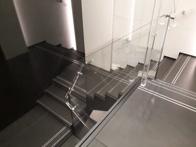 tailor made glass staircase