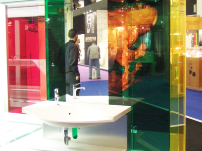 decorative laminated glass, bespoke colored laminated glass