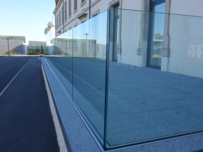 bespoke glass railing glass railing profile fixing