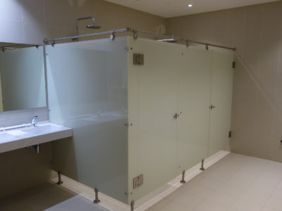 shower cubicle tailor made lacquered glass