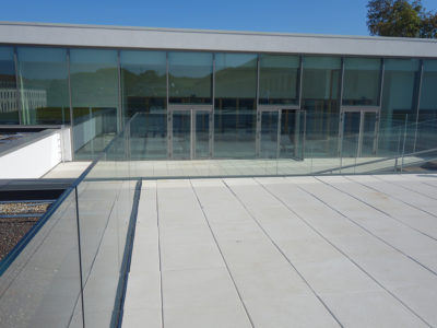 glass balustrade glass railing profile fixing