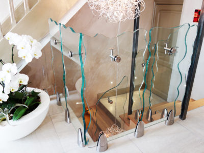 bespoke glass railing