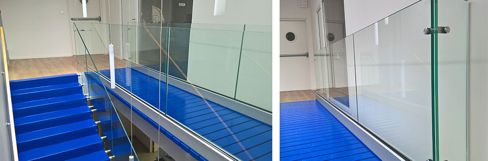 interior tailor made glass railing