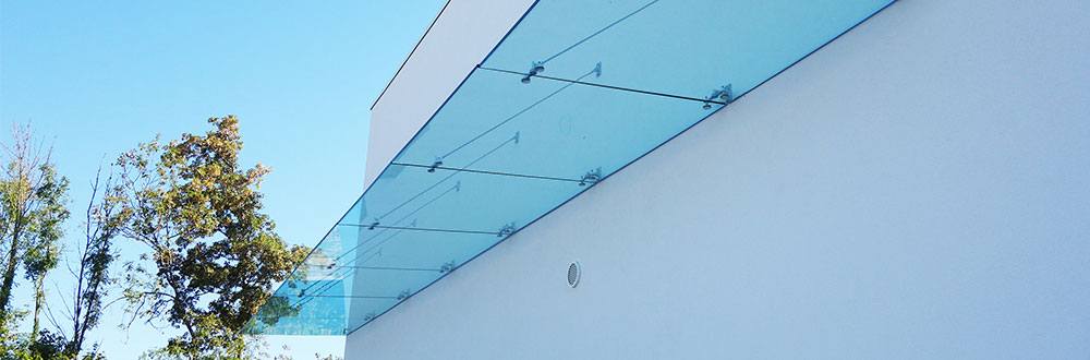 glass canopy, toughened laminated glass