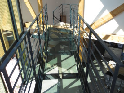 bespoke toughened laminated glass walkway