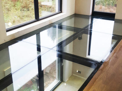 glass floor made of safety glass