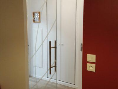 glass door decorative laminated glass