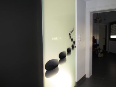 sliding glass door decorative laminated glass