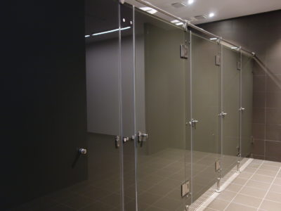 shower screen lacquered toughened glass
