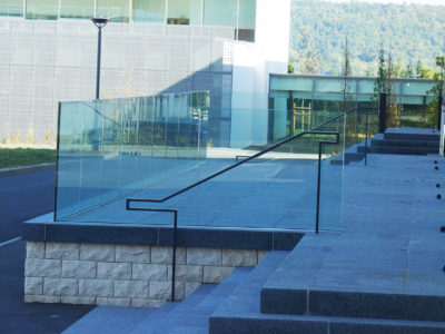 glass balustrade glass railing with sabco profile
