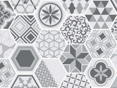 kitchen splashback cement tiles