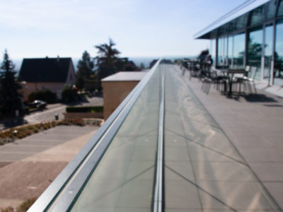 glass railing glass balustrade glass guardrail