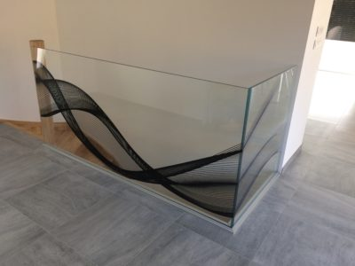 glass railing profile fixing