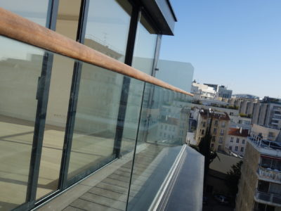 hydrophobic glass railing toughened laminated glass