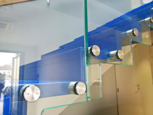 glass railing points fixing system