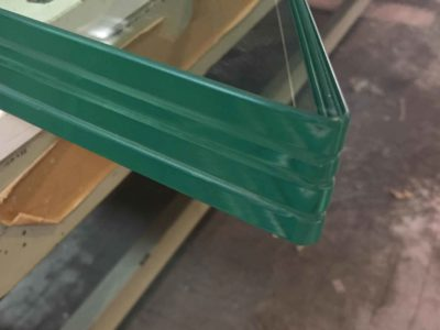glass door made of bespoke laminated glass