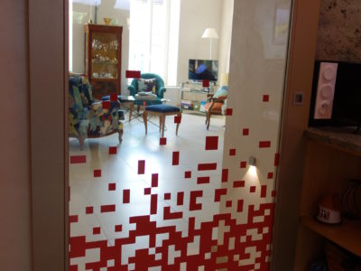 decorative interlayer glass door
