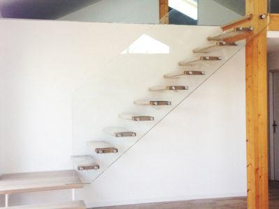 custom made glass stair railing