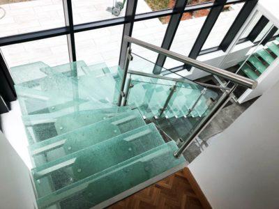 glass stairs crash decorative laminated glass