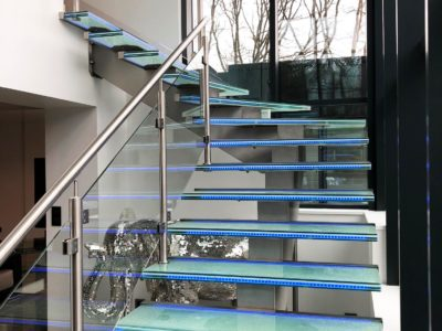 made to measure glass staircase