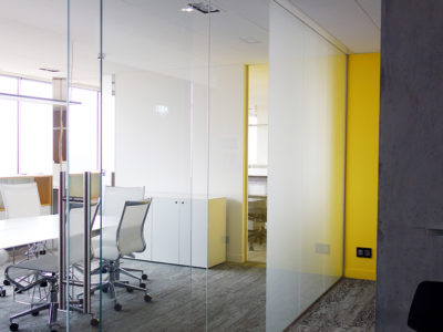 transparent frosted glass partition