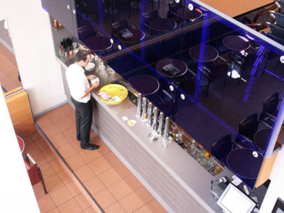 glass railing decorative laminated glass
