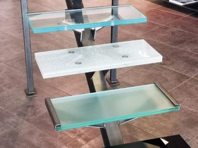 bespoke glass stairs decorative laminated glass