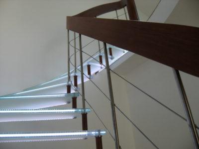 modern glass stairs