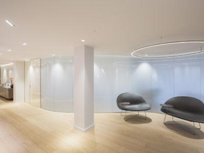gradient decorative laminated glass partition