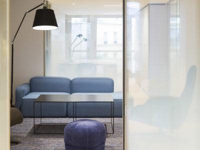 design glass partition public space