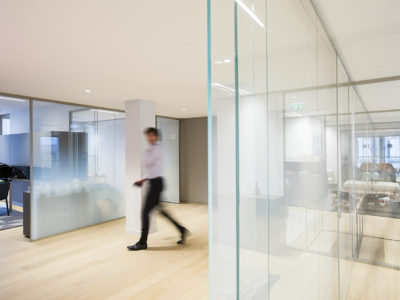 glass partition for workoffice