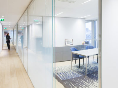 bespoke translucent glass partition