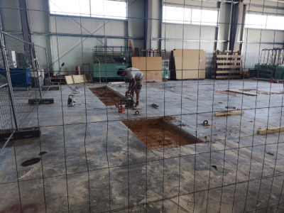 concrete slab cut