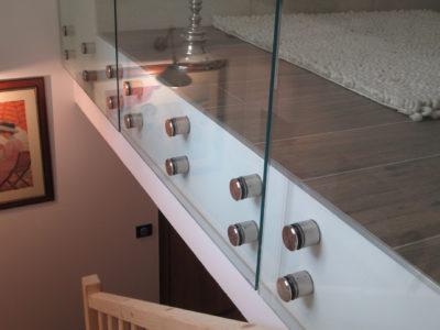 glass handrail for mezzanine