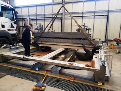 installation bilateral machining machine