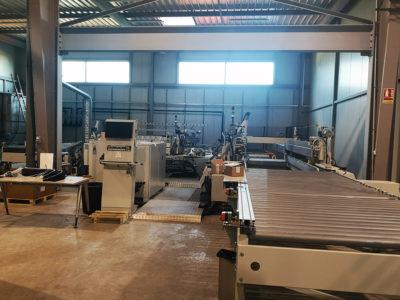 machine for polished edges glazing