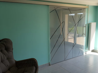 bespoke image insertion glass door