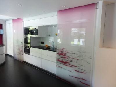 image printing glass door