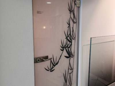 print image glass door