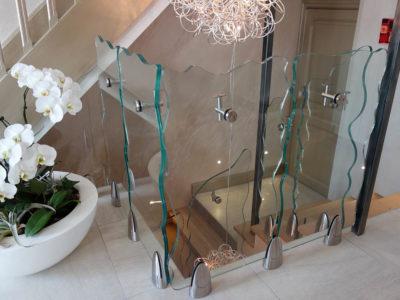 glass railing installation