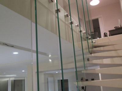 staircase handrail glass railing