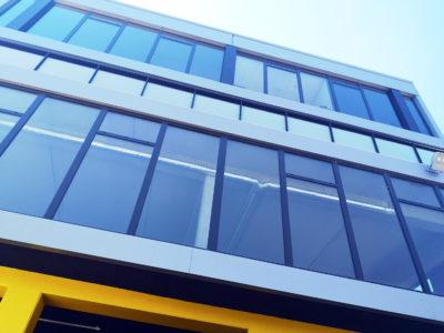 decorative laminated glass railing