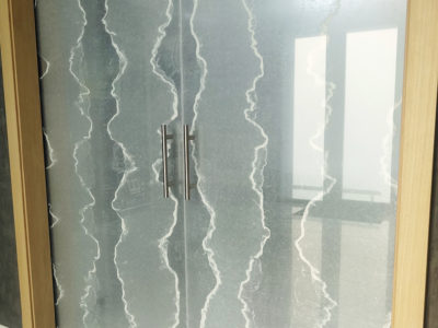 decorative sliding glass door