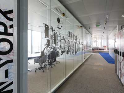 laminated glass partition