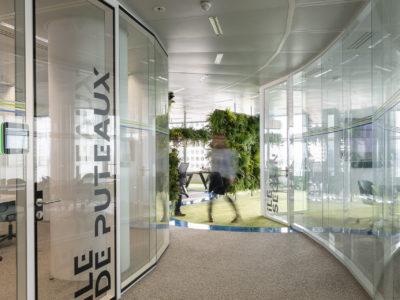 bespoke laminated glass partition