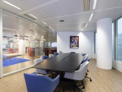 meeting room glass partition