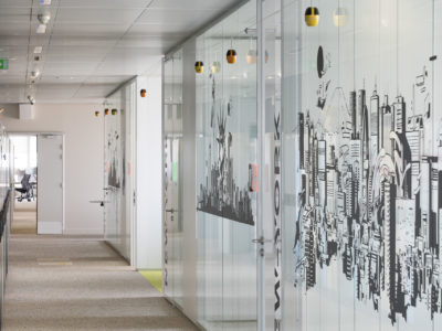 glass partition for work space