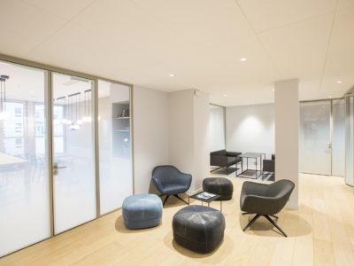 decorative laminated glass partition