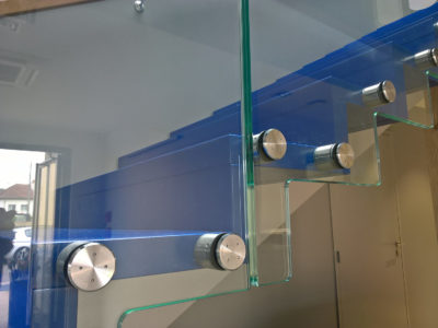 glass handrail fixing xith points