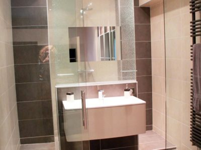 glass partition for bathroom